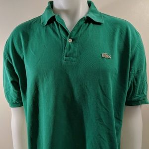 LACOSTE Mens Black Polo Shirt Size 5 - pre owned